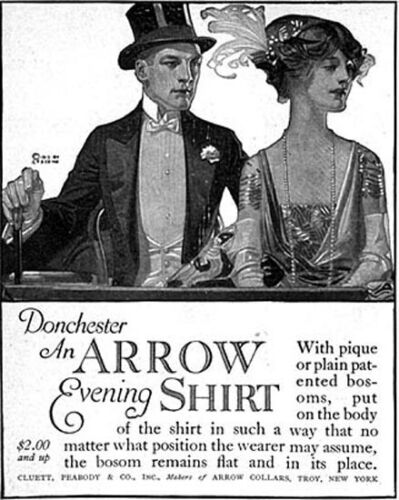 J C Leyendecker Donchester Arrow Evening Shirt Elegant Couple 1913 Magazine Ad