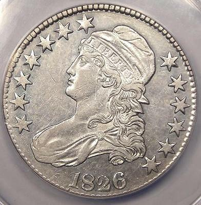 1826 CAPPED BUST HALF DOLLAR 50C   ANACS AU50 DETAILS    CERTIFIED COIN