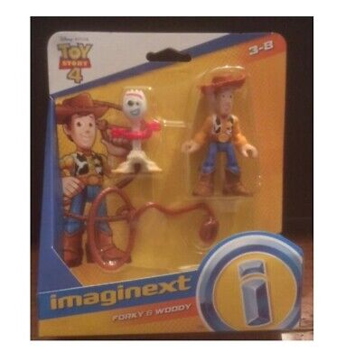 TOY STORY 4 IMAGINEXT FORKY & WOODY IN HAND!!