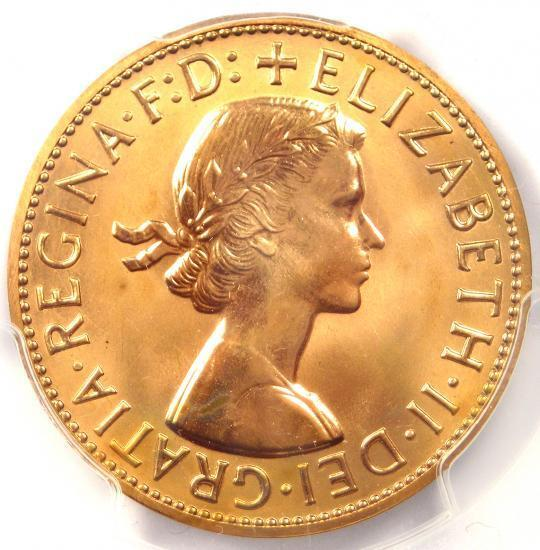 1960-P Australia Elizabeth Proof Penny 1D - PCGS PR65 RD (PF65) - Rare Coin!