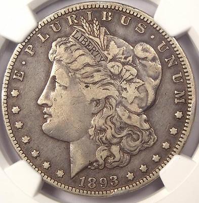 1893-O MORGAN SILVER DOLLAR $1 - NGC VF30 -  KEY DATE - CERTIFIED COIN