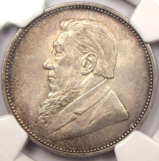 1897 South Africa 2 Shillings (2S) - NGC AU58 - Rare Key Date Certified Coin