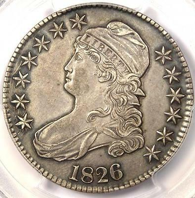 1826 CAPPED BUST HALF DOLLAR 50C O-112 - PCGS AU DETAILS - R DATE COIN