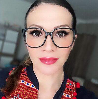 Thin Square Frames Big Fashion WaYfe Women Clear Lens Large Eyeglasses 80345 (Square Eyeglass Frames)