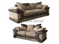 *14-DAY MONEY BACK GUARANTEE!* Deeno 3 and 2 Cord Fabric Sofa Set or Corner Suite SAME DAY DELIVERY!