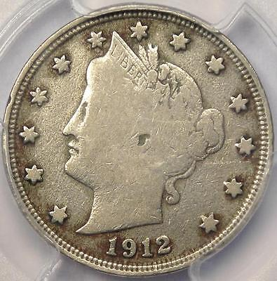 1912 S LIBERTY NICKEL 5C   PCGS FINE DETAILS    KEY DATE CERTIFIED COIN!