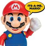 World of Nintendo Talking Action Figure It's-A Me! Mario ...