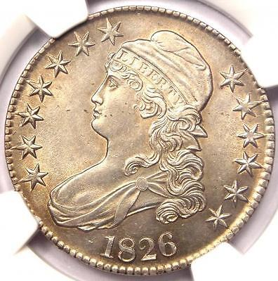 1826 CAPPED BUST HALF DOLLAR 50C - NGC UNCIRCULATED BU MS UNC - NICE LUSTER!