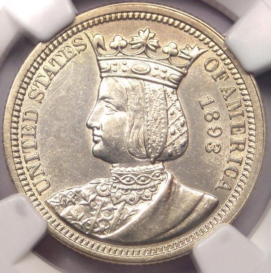 1893 Isabella Commemorative Quarter 25C - NGC Uncirculated Details (MS UNC)