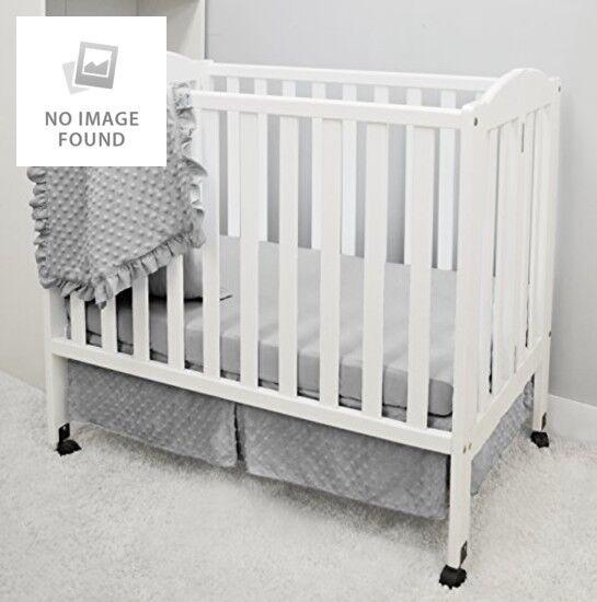 "3 Piece Mini Portable Crib Standard Size Bedding 24"" x 38"" G"