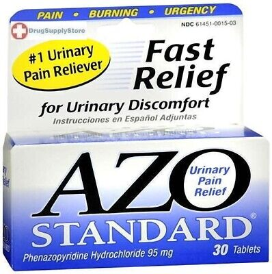 Azo Standard Tablet 30ct Urinary Pain -