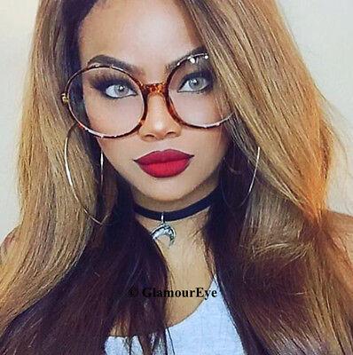 RARE Thin Oversized XL Round Circle Clear BOHO Huge Large Eyeglasses Frames (Oversized Circle Glasses)