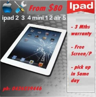 (Special Offer) iPad cracked screen glass lcd replacement service Morley Bayswater Area Preview