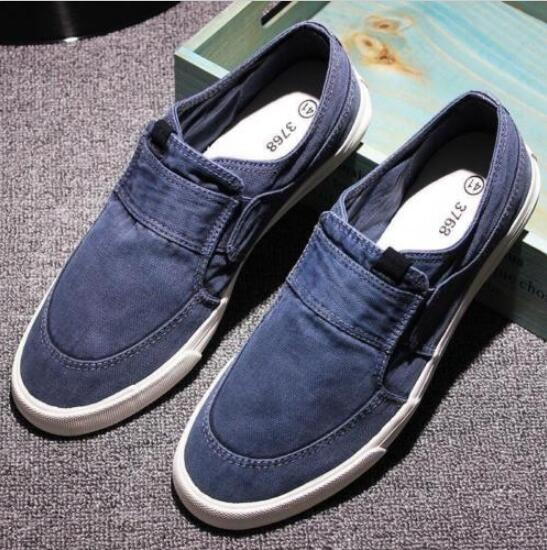 Men/'s Leisure Slip On Denim Canvas Loafers Comfort Flats Casual Shoes Breathable