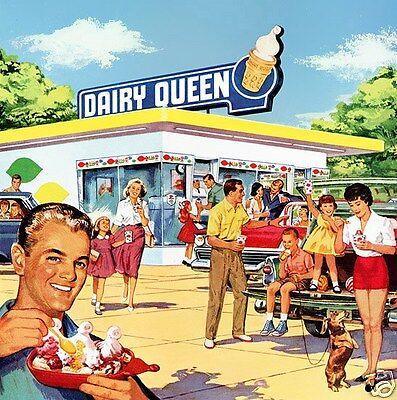 1950s DAIRY QUEEN Restaurant Scene, Refrigerator Magnet, 40 MIL THICK