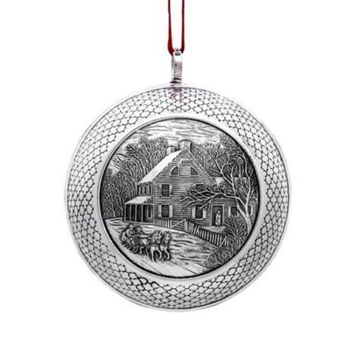 """2019 Barrett & Cornwall Christmas Ornament/Ball """"Winter Afternoon Outing"""" , NEW"""