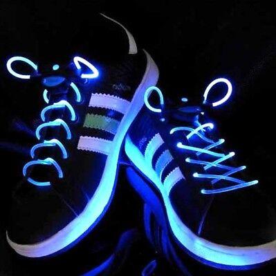 Mens Flash LED Shoe Laces Light Up Shoelaces Glow Stick Strap Dance Disco Party