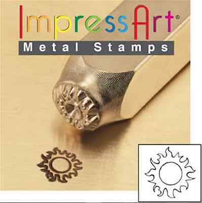 Metal Stamp, Punch, Sun - 6mm, Jewellery Making Metal Stamping