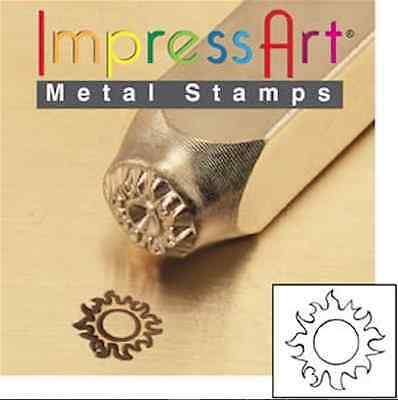 Metal Stamp, Punch, Sun - 6mm, Jewellery Making Metal Stamping
