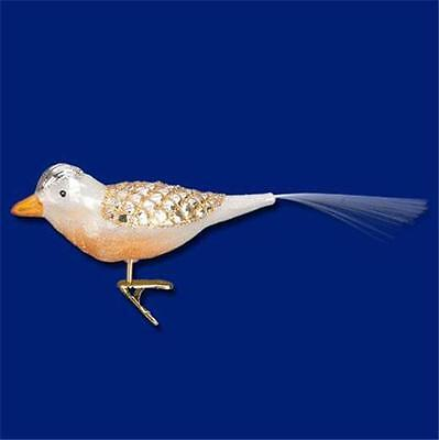 WINTERLAND BIRD OLD WORLD CHRISTMAS GLASS CLIP-ON AVIARY BIRD ORNAMENT NWT 18114