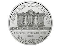 Brand new 1 oz silver coin wiener philharmonic philarmoniker 2014