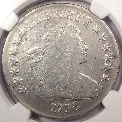 1798 Draped Bust Silver Dollar $1 B-29 BB-119 - NGC Fine Details - Rare Coin!