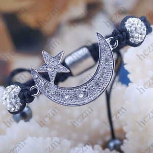 36x25mm-moon-star-bead-10mm-crystal-pave-disco-ball-bracelet-macrame-handcrafted