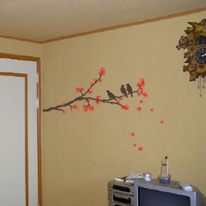 EC-01-Maple-Bird-Mural-Decals-Decor-Home-Art-Removable-Deco-Wall-Sticker