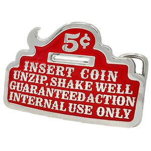 Insert Coin RED Beer Bottle Opener Belt Buckle Funny Cool Unique