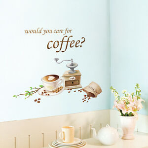 Cafe Latte Coffee Beans Wall Art Kitchen Decorative