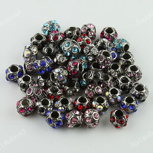 WHOLESALE LOTS 19 TYPE MIXED COLOR EUROPEAN LARGE HOLE BEADS FIT CHARM BRACELETS