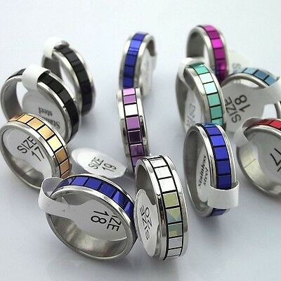 wholesale lot 50pcs mixed stainless steel ring women men jewelry