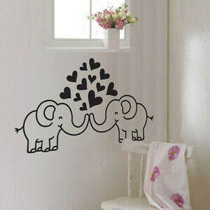 LOVING-ELEPHANT-Nursery-Kids-Room-Decor-Art-Removable-Vinyl-Decal-Wall-Sticker