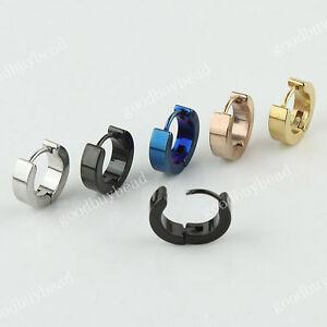stainless steel simple circle hoop earrings