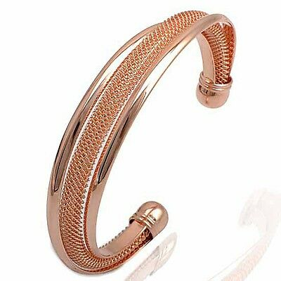 Vintage 9k Rose gold filled Women's bracelet Ladies ringent bangle on Rummage