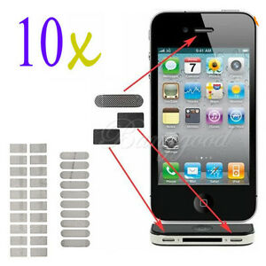 Lot 10 Anti Dust Mental Mesh Earpiece Speaker Mic Grill Covers for iPhone 4 4G