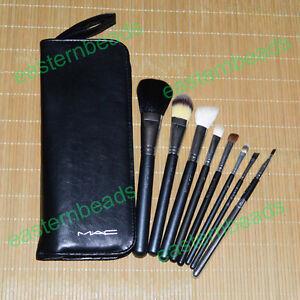 8PCS-Set-Pro-M-A-C-Eyeshadow-Powder-Cosmetic-Makeup-Brush-W-Faux-Leather-Case