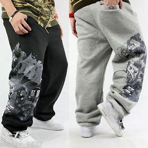 Nwt-Mens-Hip-Hop-Sweatpants-Track-Pants-Streetwear-SkateBoarding-Loose-Trousers