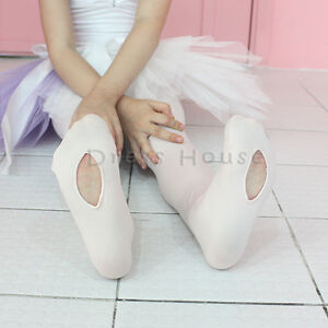 GIRLS-BOYS-HOLE-BALLET-DANCE-TIGHTS-WHITE-PINK-SIZE-S-M-L-MADE-IN-KOREA