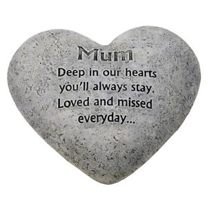In-Loving-Memory-Graveside-Heart-Plaque-Stone-Mum-Grave-Memorial