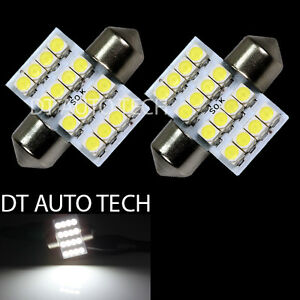 2X-6000K-Xenon-White-SMD-16-LED-Map-Dome-Interior-Lights-Bulbs-31MM-Festoon