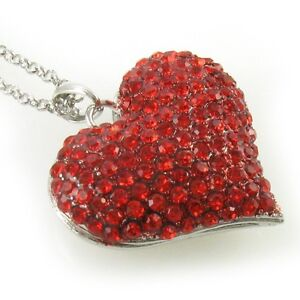 Valentines-Day-Love-Ruby-Red-Heart-Necklace-Crystal-Stone-Chain-Pendant-Lady-v1
