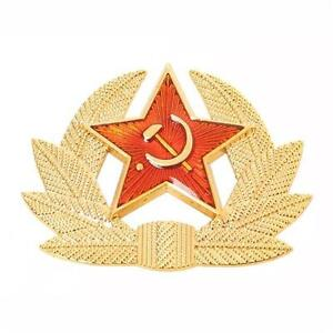 USSR Russian Army Soviet Military Red Star Badge Ideal for Trapper Cossack Hat