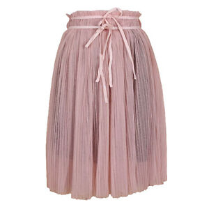 New-women-Pleated-tulle-lace-skirt-Fashion-Lace-up-tutu-midi-skirt-Y26307-3b