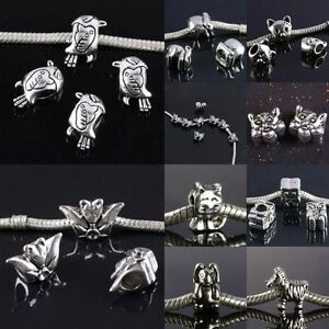 Wholesale-Tibetan-Silver-Bird-Animal-Large-Hole-Loose-Charms-European-Bead-Craft