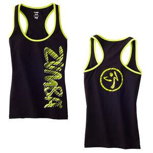 Zumba-Fast-Dash-Racerback-Top-Zumbawear-Dance-All-Sizes