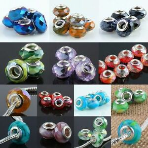 Wholesale-AB-Crystal-Glass-Rondelle-Large-Hole-Loose-Beads-Fit-Charms-Bracelet