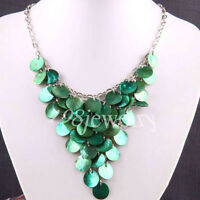 Green Mother Of Pearl Shell Crafts Necklace