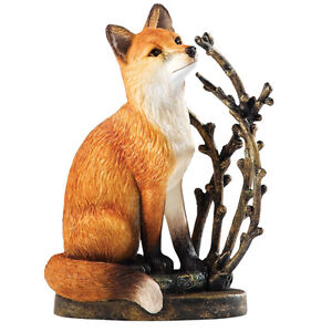 BORDER FINE ARTS WILDLIFE *FOX & PUSSY WILLOW* NEW BOXED A20074 RRP: £19!
