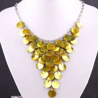 New Mother Of Pearl Shell Crafts 18KGP Necklace